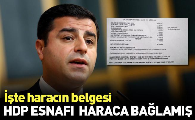 HDP esnafı böyle haraca bağlamış