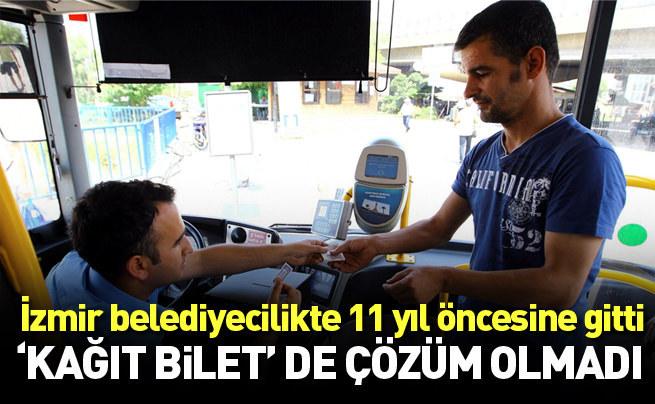 İzmir'e kağıt bilet de çözüm olmadı
