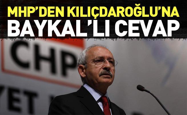 MHP'den CHP'ye Baykal'lı cevap