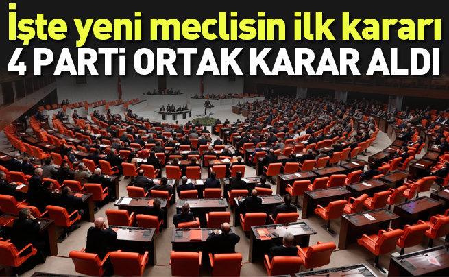Yeni meclisin ilk kararı resmi gazetede yayınlandı