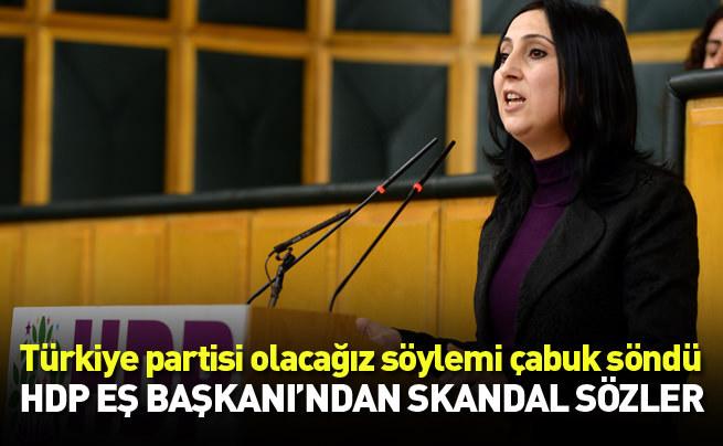 HDP Eş Başkanı'ndan skandal sözler: Henüz zamanı gelmedi
