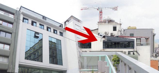 Mimarlar Odası'nın kaçak yapısı yıkılıyor