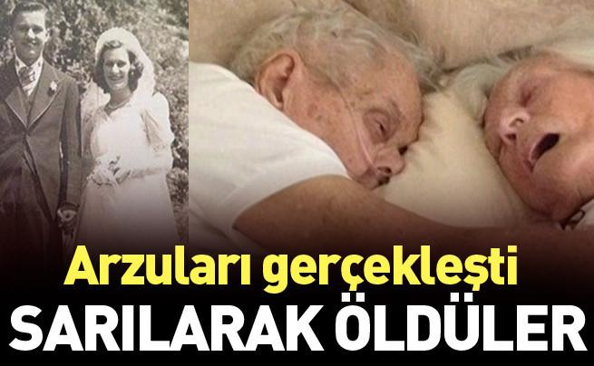 Yaşlı çift arzuladıkları gibi kol kola öldü