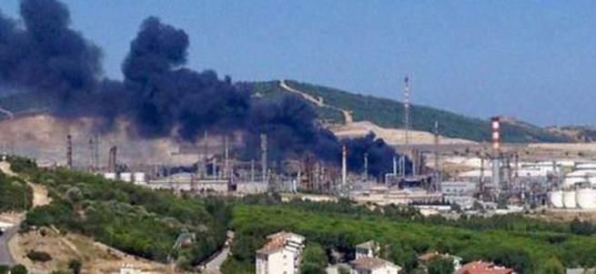 Tüpraş Rafinerisi'nde yangın!