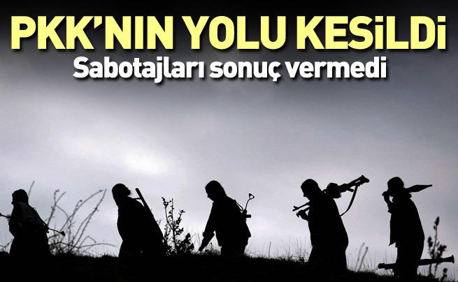 Sular yükseldi, PKK'nın yolu kesildi