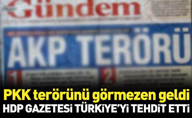 HDP'nin basını Türkiye'yi tehdit etti