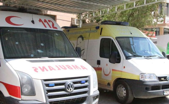 Mardin Nusaybin'de ambulanslara kurşun yağmuru