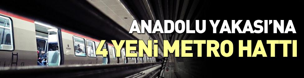 Anadolu Yakas�'na 4 yeni metro hatt� geliyor