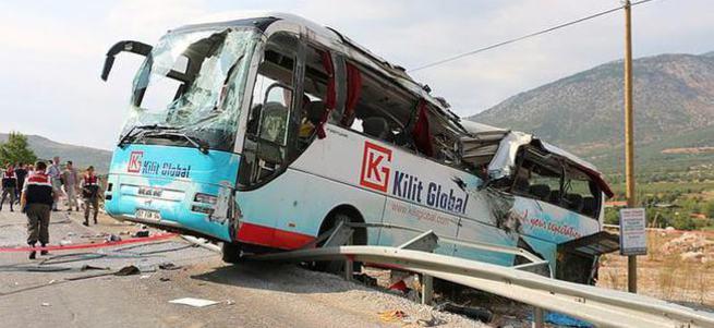 Otobüsü takla attı: 4 ölü!