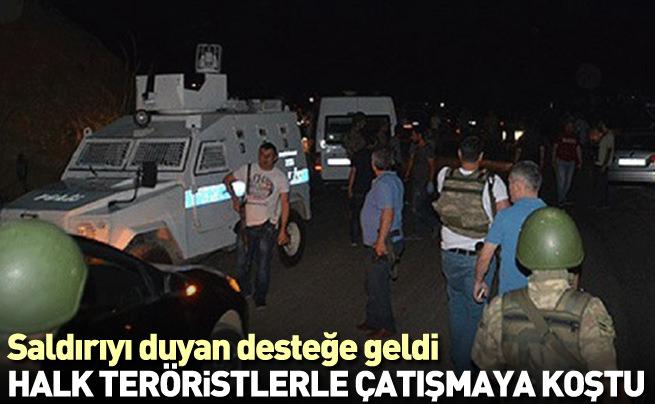 Erzurum halkı teröristlerle çatışmaya koştu