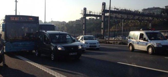 Bomba şüphesi TEM otoyolunu trafiğe kapattı