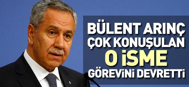 Bülent Arınç görevini Tuğrul Türkeş'e devretti