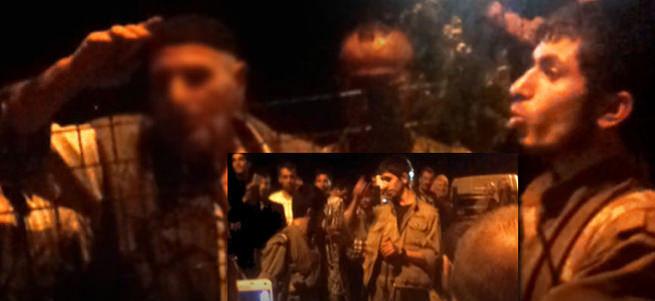 Yol kesip araç yakmak isteyen PKK'lılara halktan tepki