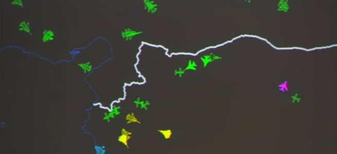 Suriye sınırının anlık radar görüntüsü yayınlandı