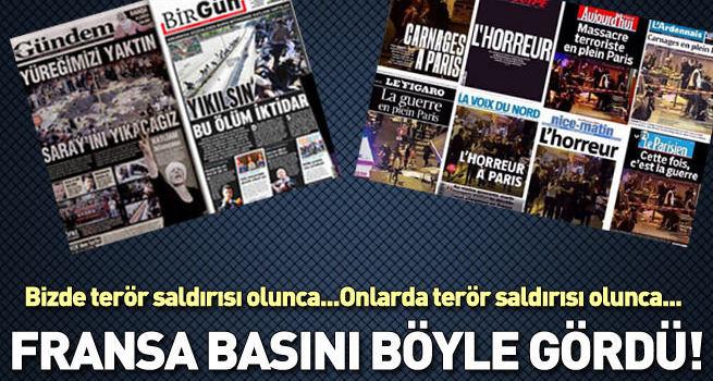 Paris'te gazetelerin manşetleri!