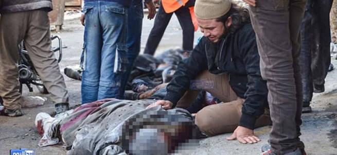 Rus savaş uçakları pazar yerini vurdu: 40 ölü