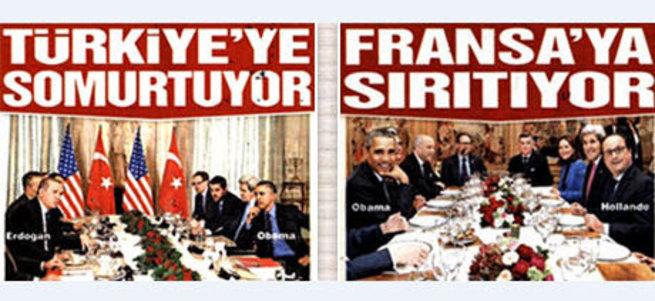 Sözcü'nün manşetinde ülke düşmanlığı var