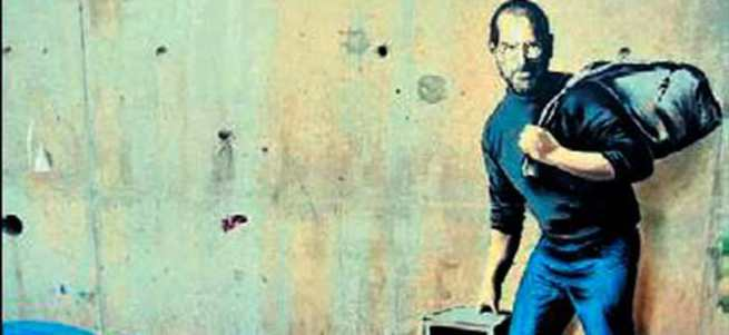 Banksy'den dünyaya Jobs göndermesi