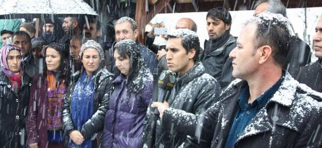 HDP'nin Cizre eylemine kar engeli
