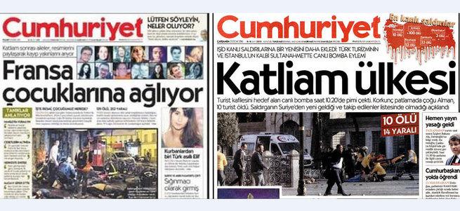 Cumhuriyet Gazetesi'nin ikiyüzlülüğü!