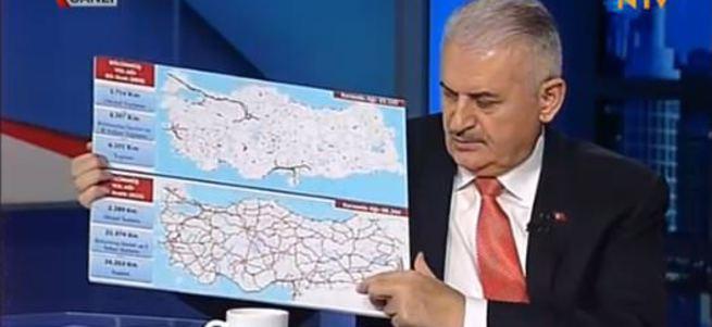 Binali Yıldırım'dan haritalı açıklamalar