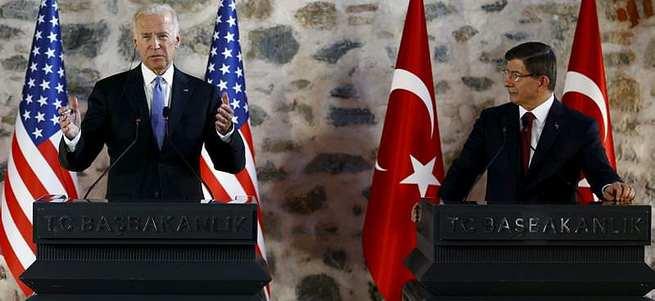 Davutoğlu ve Biden basın toplantısı düzenledi