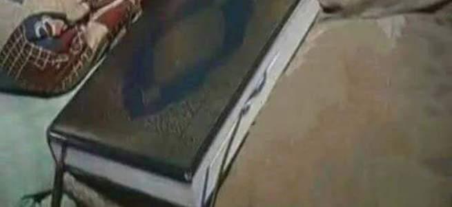 Teröristler Kur'an-ı Kerim'in içine bomba yerleştirdi