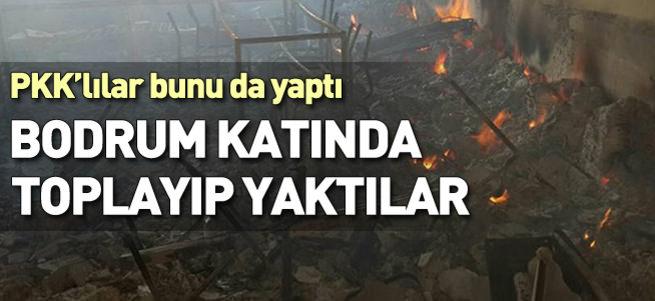 PKK, Cizre'de cesetleri yaktı