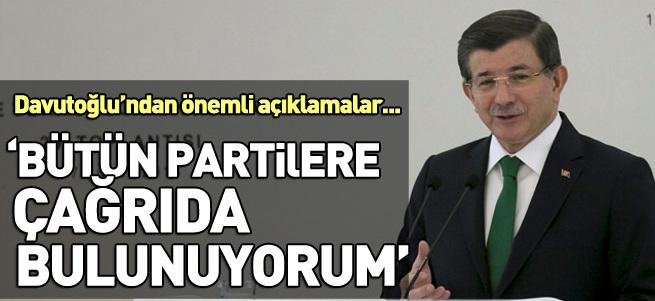 Davutoğlu: Çalışmalar sürdürülsün