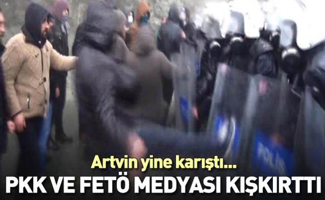 Artvin Cerattepe eylemcileri polise saldırdı