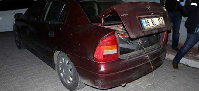 Astsubayın aracında uyuşturucu yakalandı