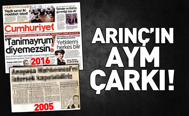Bülent Arınç'ın Anayasa Mahkemesi çarkı