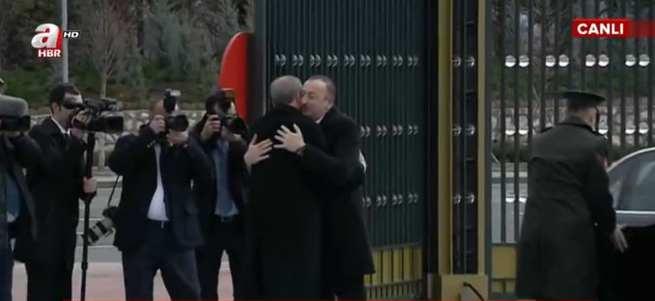 Erdoğan ve Aliyev'den samimi görüntüler