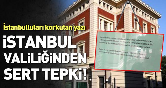 İstanbulluları korkutan yazı