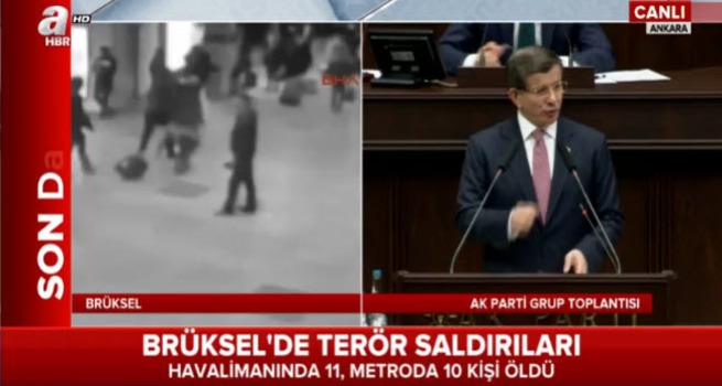 Başbakan Davutoğlu grup toplantısında konuşuyor