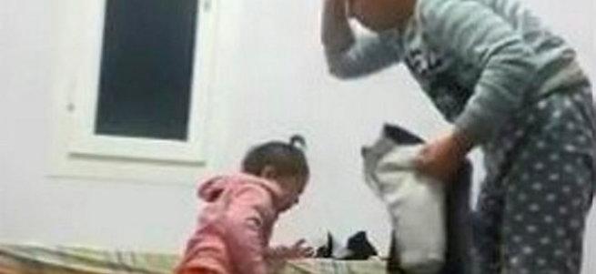 Öz anneden küçük kıza öldüresiye dayak