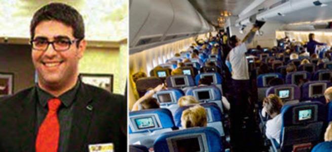 Uçakta amcasıyla konuşurken 'İnşallah' diyen genç ihbar edildi