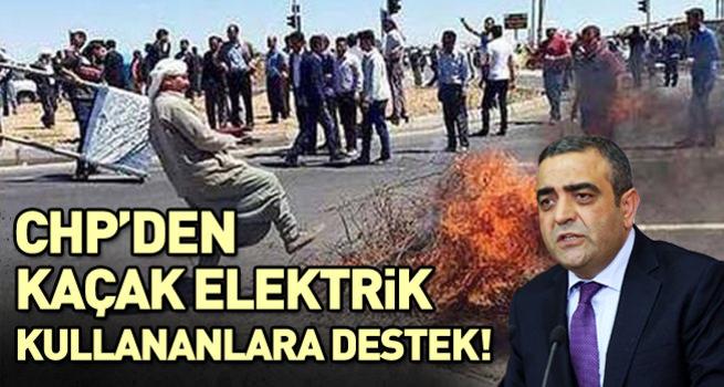 CHP'den kaçak elektriğe destek!