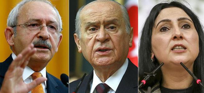Kılıçdaroğlu, Bahçeli ve Yüksekdağ'ın fezlekeleri Başbakanlığa gönderildi