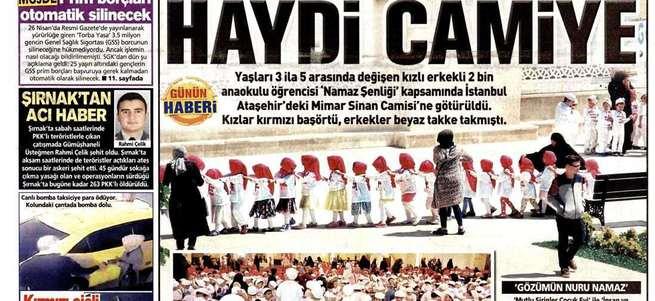 Posta Gazetesi'nin namaz düşmanlığı!