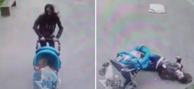 Rusya'da bir kadının kafasına beton blok düştü