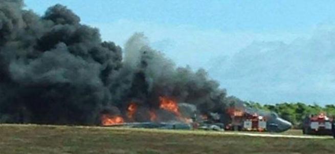 ABD'nin bombardıman uçağı düştü