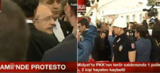 Şehit cenazesinde Kılıçdaroğlu'na protesto şoku