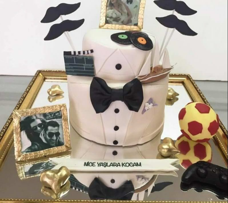Sinem Kobal'dan eşine bol detaylı pasta