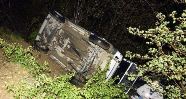 Gümüşhane'de otomobil uçuruma düştü: 7 yaralı
