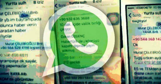 İşte darbecilerin WhatsApp yazışmalarının tam dökümü