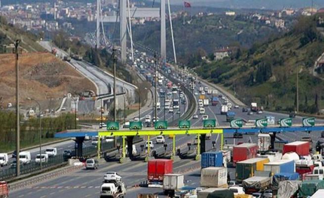 Köprü ve otoyollardan saniyede 40 lira gelir elde edildi