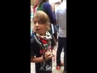 Filistinli k�z �srail polisine haddini bildirdi