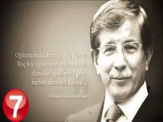 Ahmet Davuto�lu'na özel klip