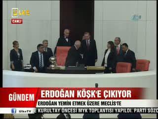 Cumhurba�kan� Erdo�an yemin etti